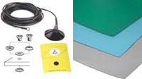 Floor Mat Set. Includes: StatMat-F Size a' x b' x Y ,  A-Uni Snap - 10 mm snap and AG-15FM Low Profile Grounding Wire.