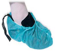 Disposable shoe covers cleanroom compatible