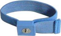 Anti-allergic wrist strap, 4mm snap, blue. Band only (without coil cord)