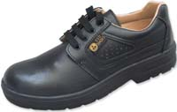 ESD Shoes, Top-Derby, black, steel toecap