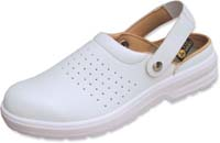 ESD white Antistatic Clogs with steel toecap