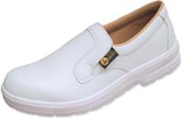 ESD white Antistatic Slippers with steel toecap
