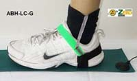 Heel Grounder,  No Slip, dual layer rubber, 1Meg Resistor, Green. RTG < 10e6 -10e7. For use to distinguish Lead Free Areas.