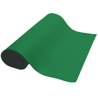 Table Mat-roll 2' (.61m) x 32.8' (10m), 2 layer, 2mm rubber. Color: Gr-Green