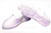 Anti-Static Clean Room Shoes with PU outsole. Surface resitivity: 10e6 -10e8.  Light, compact design and velcro closure for an easy fit.   Sizes: 40,41,42,43,44,45