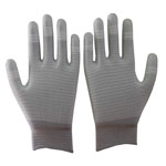Carbon ESD PU fingertips coated Gloves,