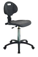 ESD Hi-Tech Molded Chair, black, plastic ESD wheels