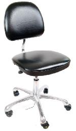 ESD Cleanroom, vinyl chair with pneumatic height adjustment - economy, black