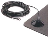 Ground cord for floor mats, black 10ft, female (to fit male, 10 mm snap on the mat)
