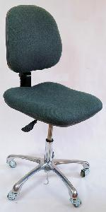 ESD Chair, fabric, dark grey