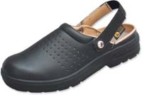 ESD Shoes, Airing-Clog, black, steel toecap
