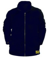Antistatic, lint free,  Navy Blue winter jacket with zipper closure and two pockets