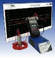 Analyze electrostatic processes! The Static Visualizer is a 12-bit A/D converter with special software for the simple analysis of electrostatic processes.  All field strength meters and charged plate monitors with an analog output can be connected to it.