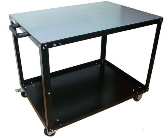 ESD Safe Utility Cart. The largest available from ZeroCharge brand. Top shelve finish: Antistatic two layer non burn rubber mat. Same performance as ATR-1.