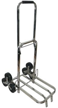 ESD Safe stainless steel trolley for transporting goods in ESD safe environment when there is a need to pass through high door steps or use the stairs. Can be of course used for transporting smaller loads on flat surfaces.
