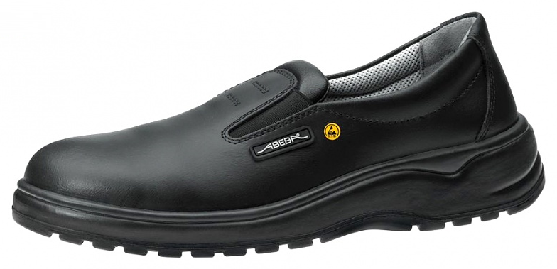 ESD Shoes, Smooth leather, Black