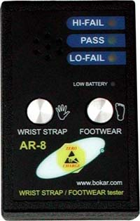 AR-8 Wrist and Footwear Tester with 9V battery