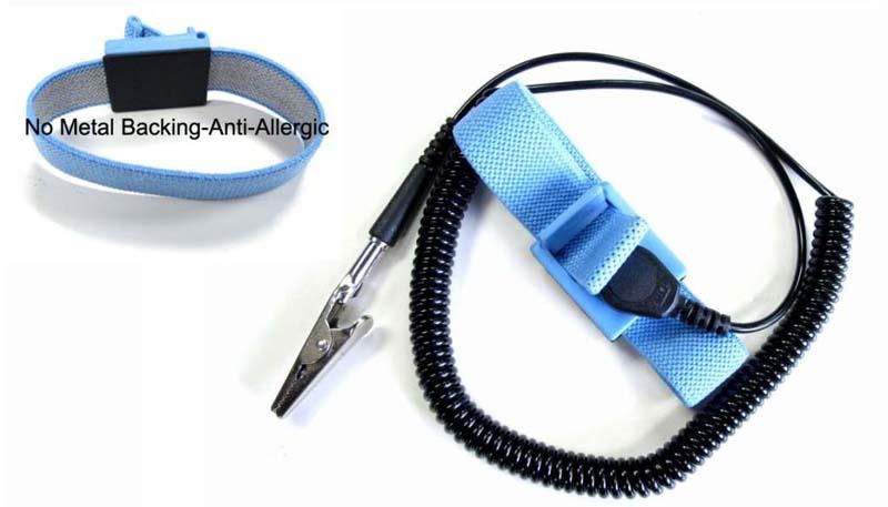 ESD Safe Anti Static Wrist Strap 12ft Ground cord 10mm ANTI-ALLERGIC WRIST BAND