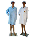 No-Stat ZeroCharge, light Lab Coats,  Blue,