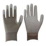 Carbon ESD PU palm Coated Gloves,