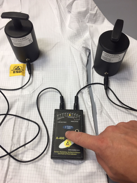 Universal Resistance Checker with 2 Resistance Probes. Measures Surface Resistance, Surface to Ground, and Point to Point Resistance