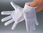 ESD Non-Slip Gloves with dots on the palm. Min order 10 pairs.
